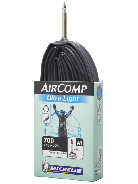 Michelin A1 Aircomp Ultralight Fahrradschlauch 28 Zoll Presta
